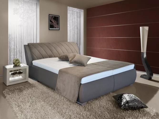 Čalouněná postel Grosseto 180x200 včetně matrace a polohovacího roštu