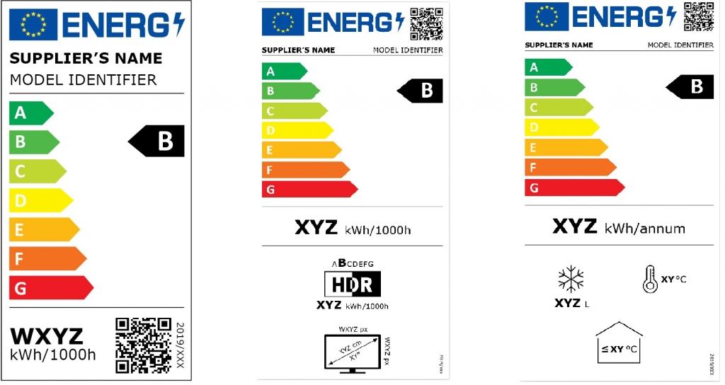 Ukázky nových energetických štítků