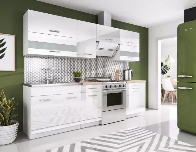 Kuchyně Rio 240 cm vysoký lesk