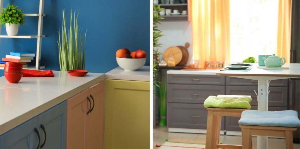 Dve moderné farebné vyhotovenia kuchyní