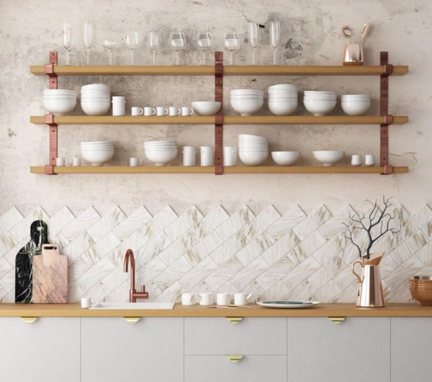 Kuchynský obklad zoradený do originálneho vzoru