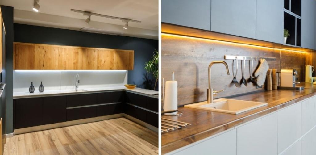 Použitie dreva v moderných kuchyniach