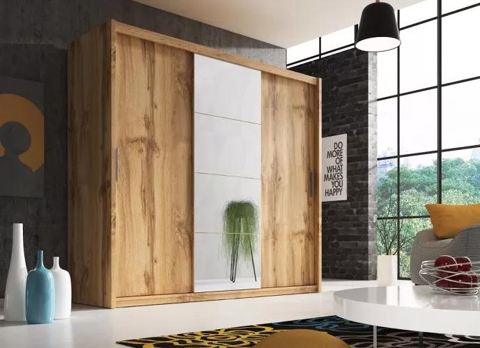 Šatní skříň Argos dub wotan - skříně 2020