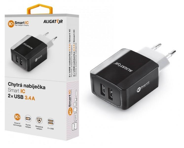 Nabíječka Aligator 2x USB