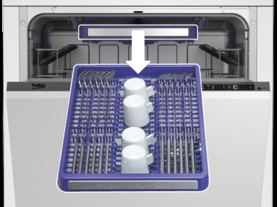 Volně stojící myčka nádobí BEKO DFN26422X, A++, 60 cm, 14 sad