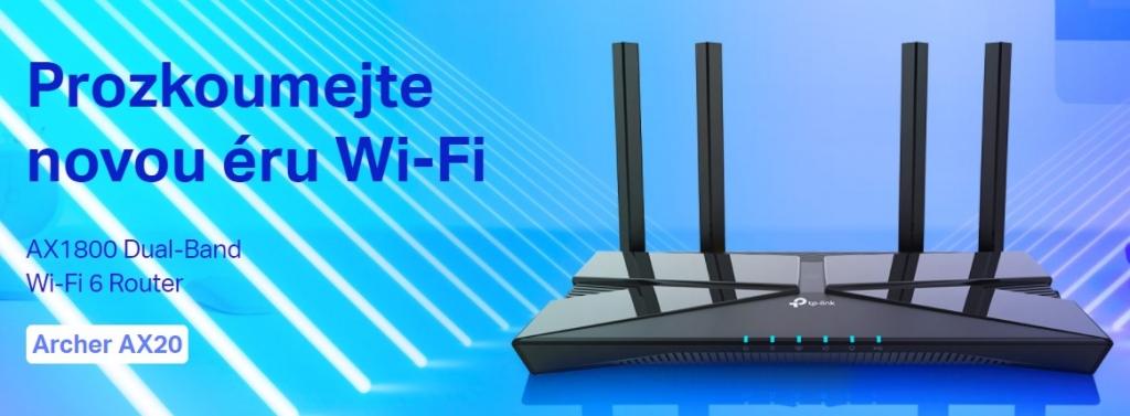 Router TP-Link Archer AX20, AX1800 WiFi6 5xGb, USB 2.0