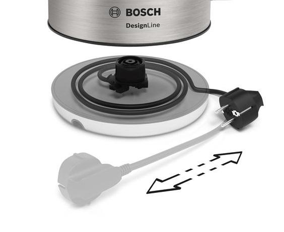 Rychlovarná konvice Bosch TWK4P440, nerez, 1,7l