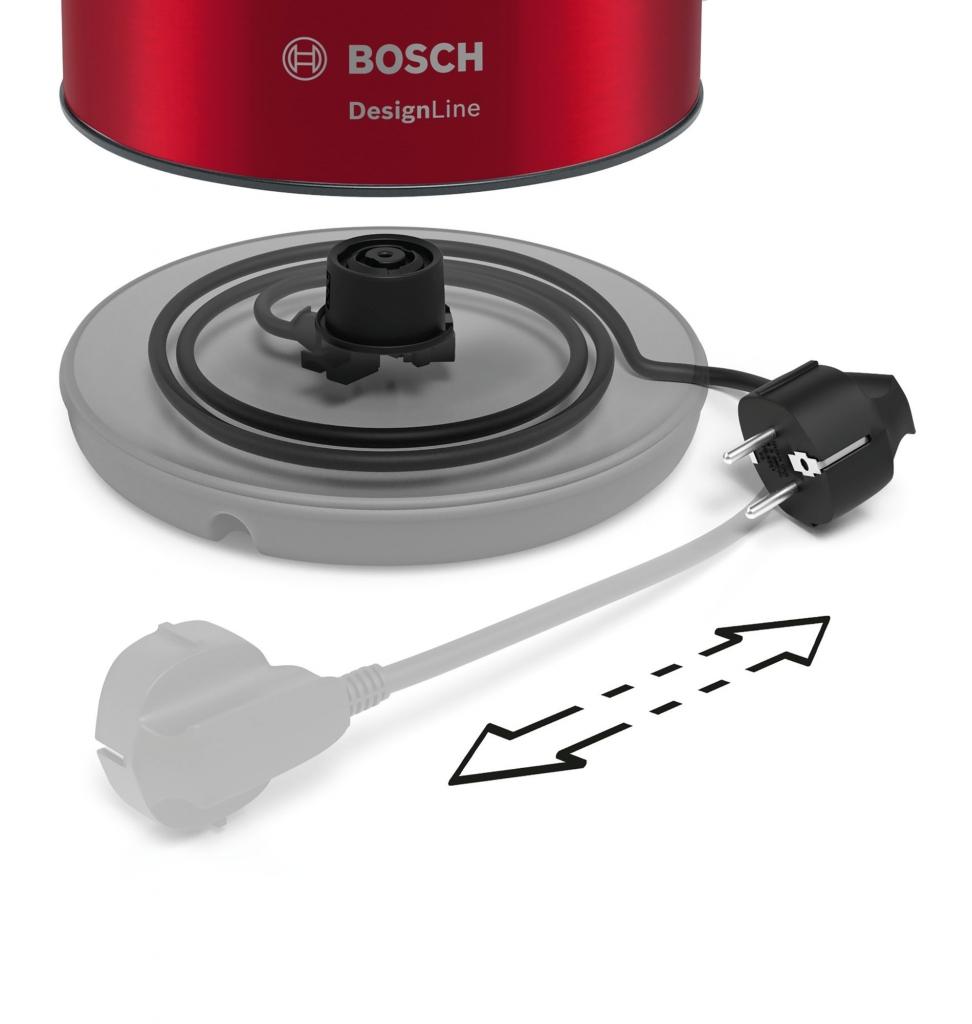 Rychlovarná konvice Bosch TWK3P424, červená, 1,7l