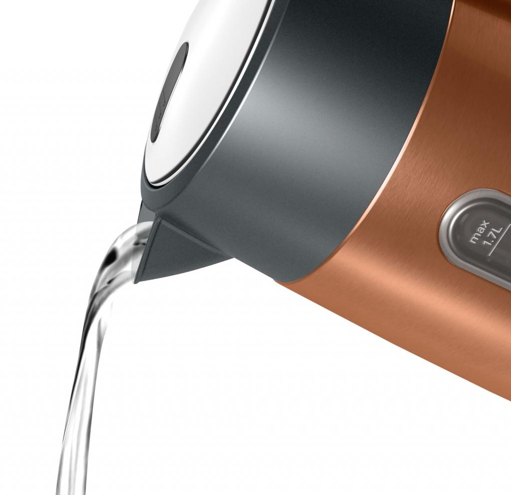 Rychlovarná konvice Bosch TWK4P439, bronzová, 1,7l