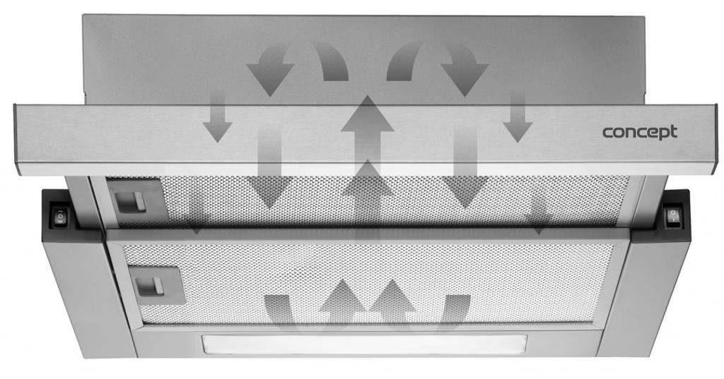 Komínový odsavač par Concept OPK5490wh, 90cm, A