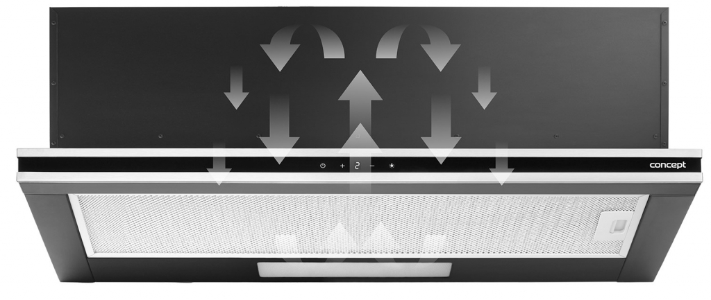 Výsuvný odsavač par Concept OPV3890, 90cm, A