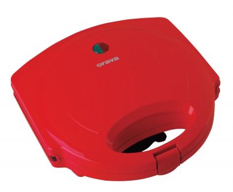 Sendvičovač Orava ST105R, 750W, červený