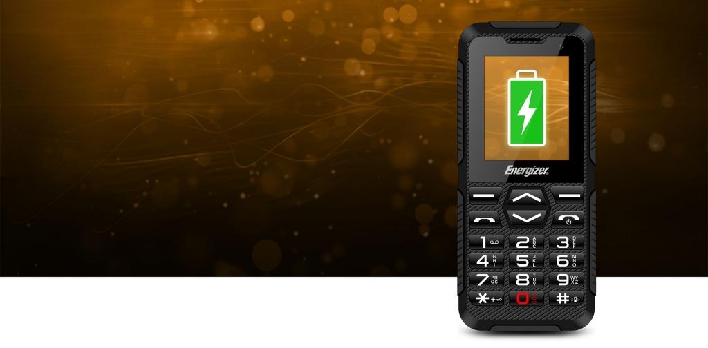 Tlačítkový telefon Energizer Hardcase H10, černá