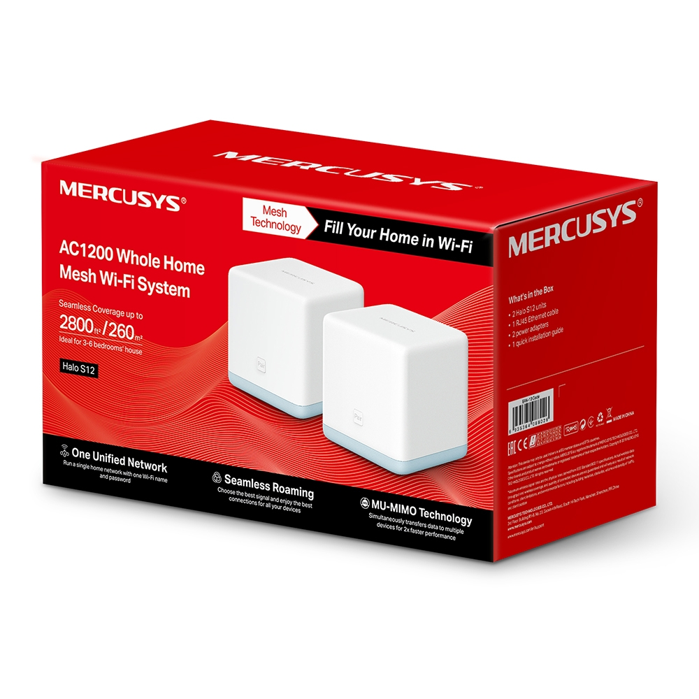 Mercusys HALOS122PACk Home Mesh WiFi systém Halo S12(2-pack)