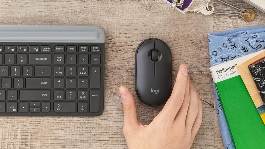 Bezdrátová myš Logitech M350, šedá