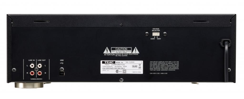 Dvojitý kazetový magnetofon s USB TEAC W-1200, černý