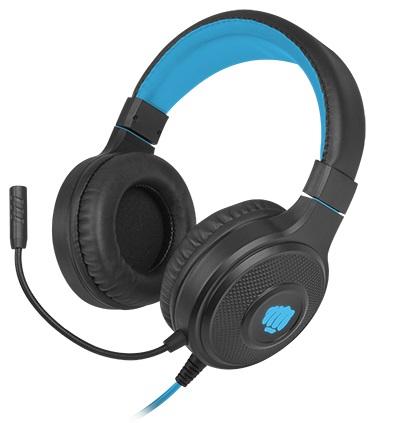 Herní stereo sluchátka FURY Warhawk, RGB, černá