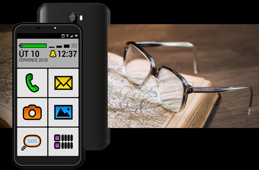 Mobilní telefon ALIGATOR S5540KS 2GB/32GB, Kids+Senior, červenýý
