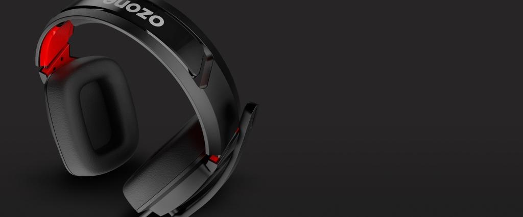 Sluchátka OZONE Ekho X40, herní, pro PS4/XBOX/NS/PC, černá