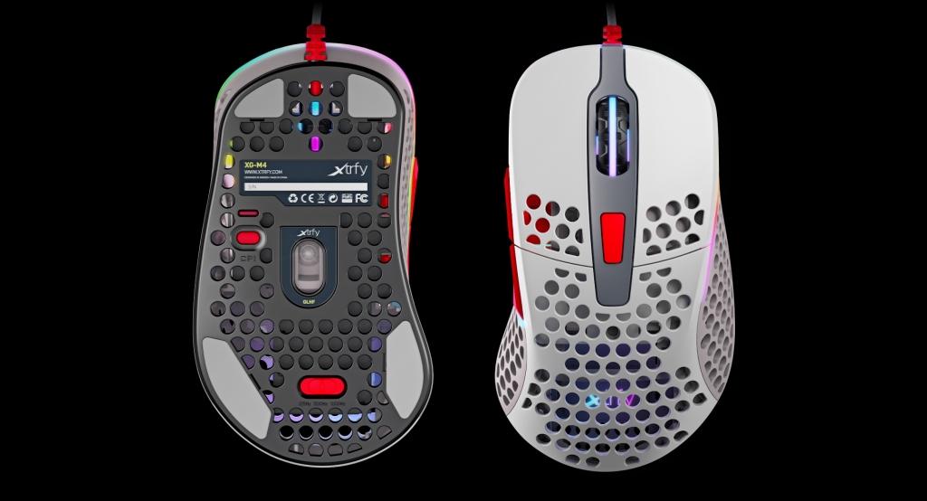 Herní myš Xtrfy M4 RGB, 16 000 dpi, černá