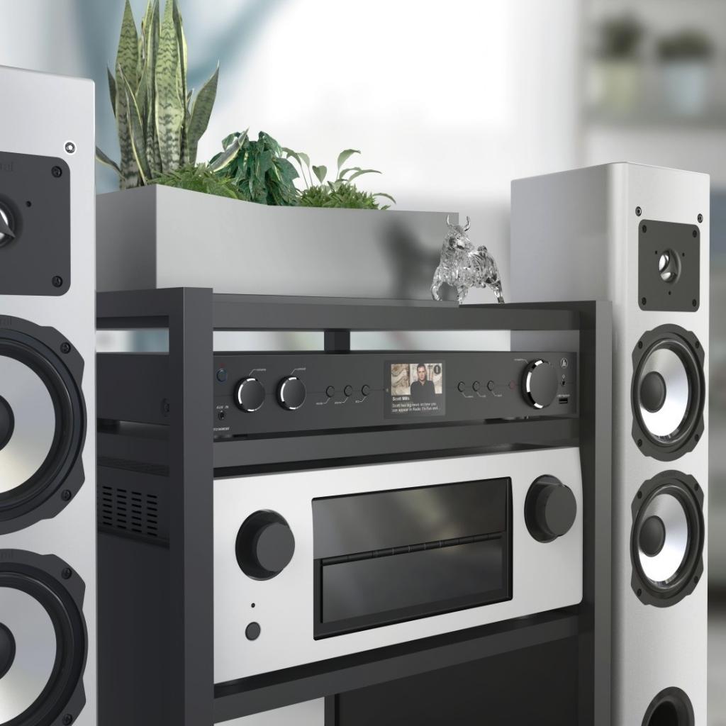 Hama DIT2100MSBT, hybrid Hi-Fi Tuner, FM/DAB/DAB+/A/MR/BT, černé