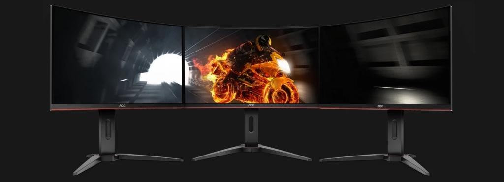 """Herní monitor AOC C32G1, 31,5"""", zakřivený, 144 Hz, 1 ms, černý"""