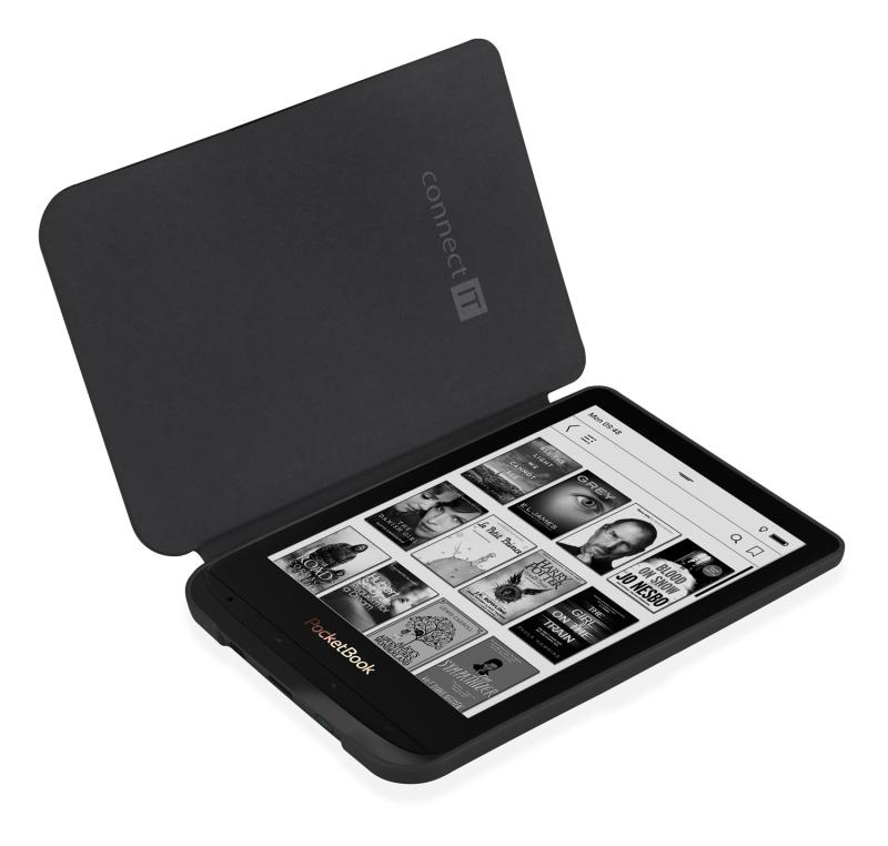 Pouzdro Connect IT pro PocketBook 616/627/632, doodle černé