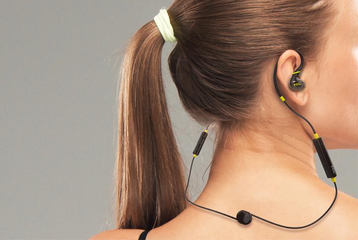 TCL ACTV100BTBK BT sportovní sluchátka do uší, mikrofon, černá
