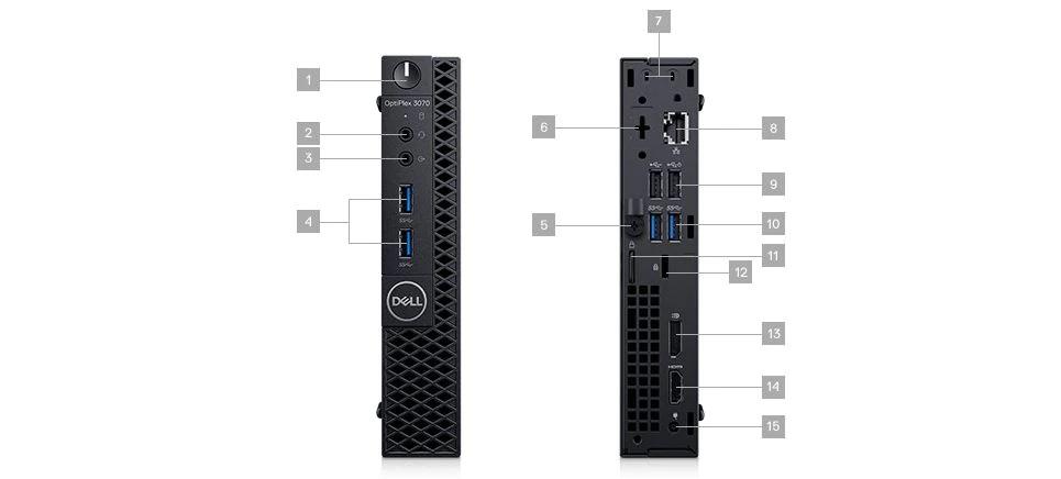 PC Dell OptiPlex MFF 3070/Core i3/4GB/128GB/Intel UHD 630/Win