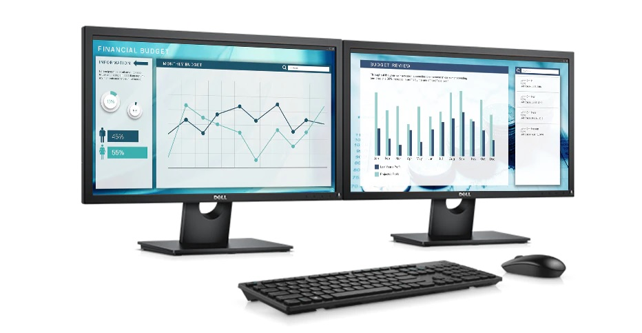 "Monitor Dell E2318H, 23"", WLED, 5 ms, FullHD, černá"