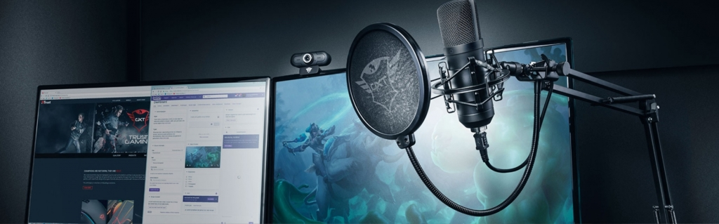 Trust TRUSTGTXT252 Mikrofon GTX 252+ Emita Plus Streaming