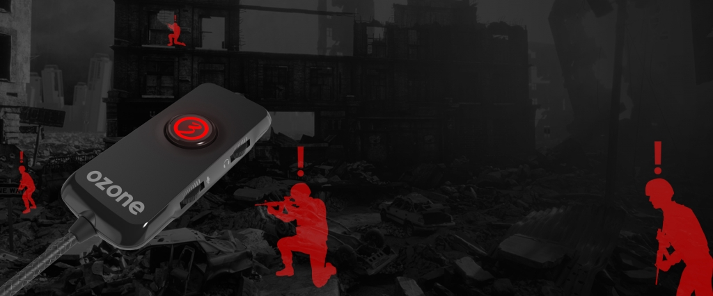 Sluchátka OZONE Nuke Pro, herní, zvuk 7.1, černá