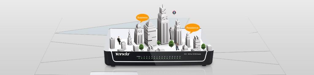 Tenda TENDAS16 Switch S16-16-port Fast Ethernet 10/100 Mb/s