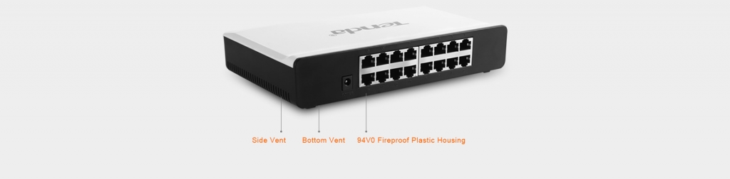 Tenda TENDAS16 Switch S16-16-port Fast Ethernet 10/100 Mb/s