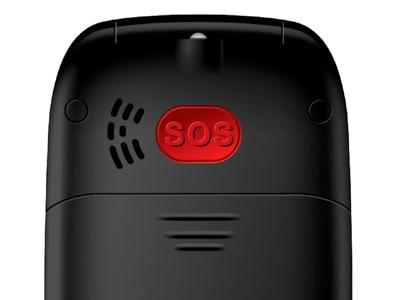 Tlačítkový telefon Evolveo EasyPhone FD, véčko, černá