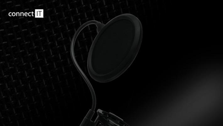 CONNECT IT YouMic CMI-8001-BK Mikrofon s USB a POP filtrem