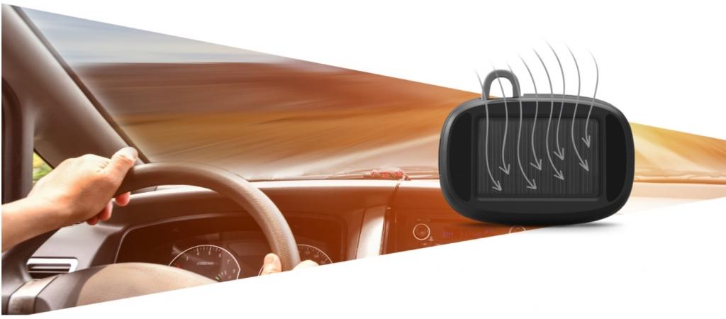 Handsfree Navitel Solar Car BT se solárním nabíjením