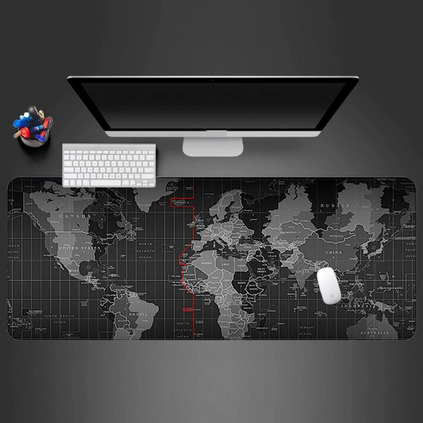 Podložka WG pod klávesnici a myš, mapa světa, 750x300mm
