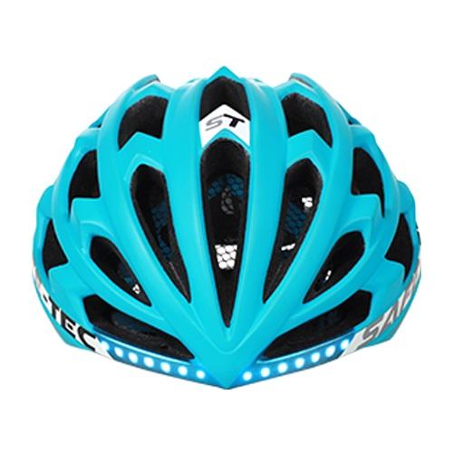 Chytrá helma SafeTec TYR 2, M, LED blinkry, bluetooth, černá