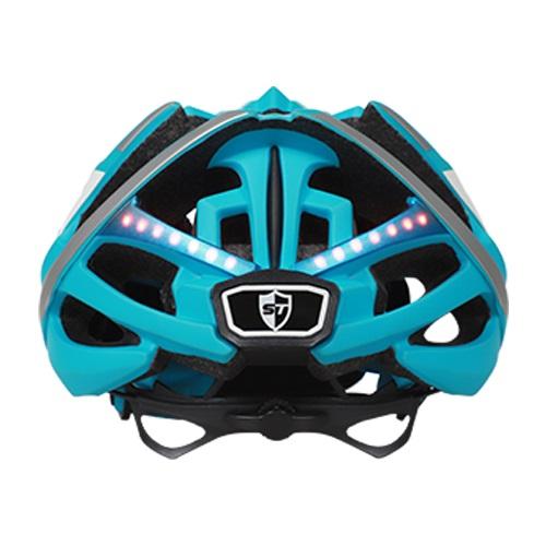 Chytrá helma SafeTec TYR 2, M, LED blinkry, bluetooth, modrá