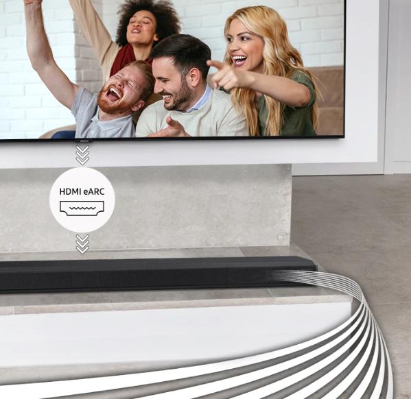 Soundbar Samsung HW-Q70T/EN Dolby Atmos 330 W 3.1.2Ch 8 repro hdmi