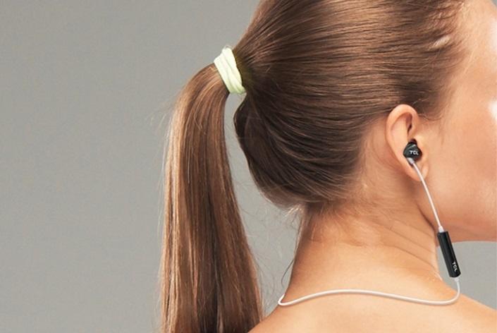 TCL SOCL100BTBK BT sluchátka do uší, mikrofon, BT 4.2, černá