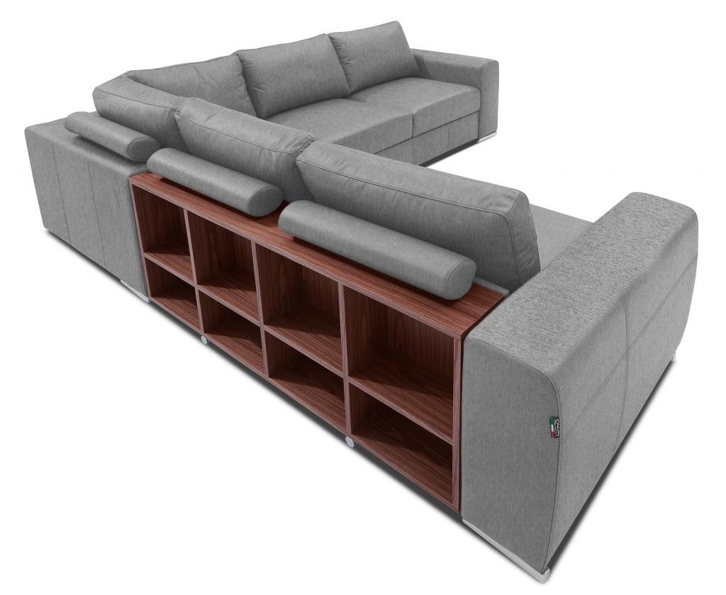 Rohová sedačka Biblio s úložným priestorom