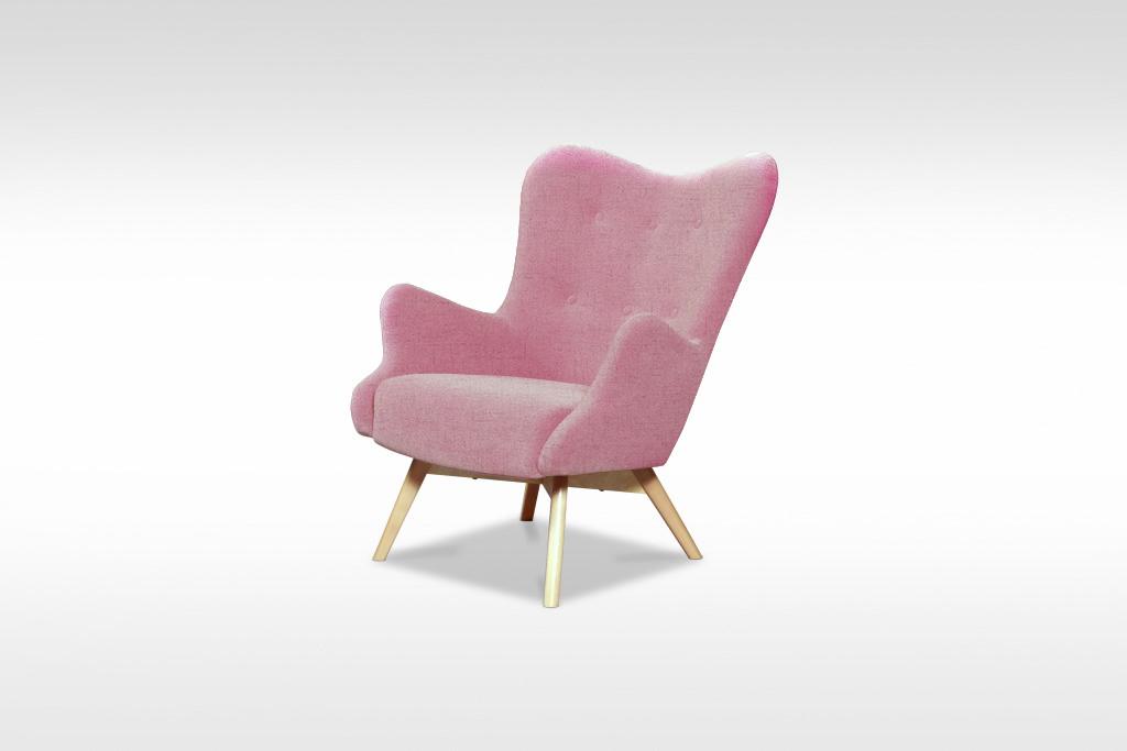 Ružové kreslo Glamour