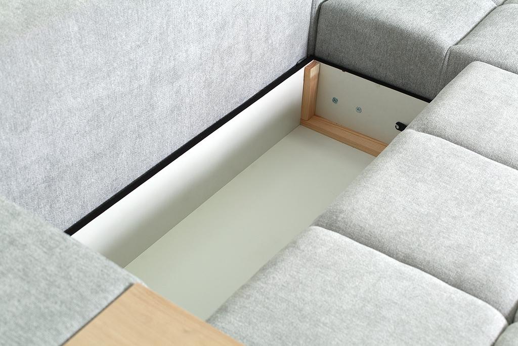 Rohová sedačka Baltic - detail úložného priestoru