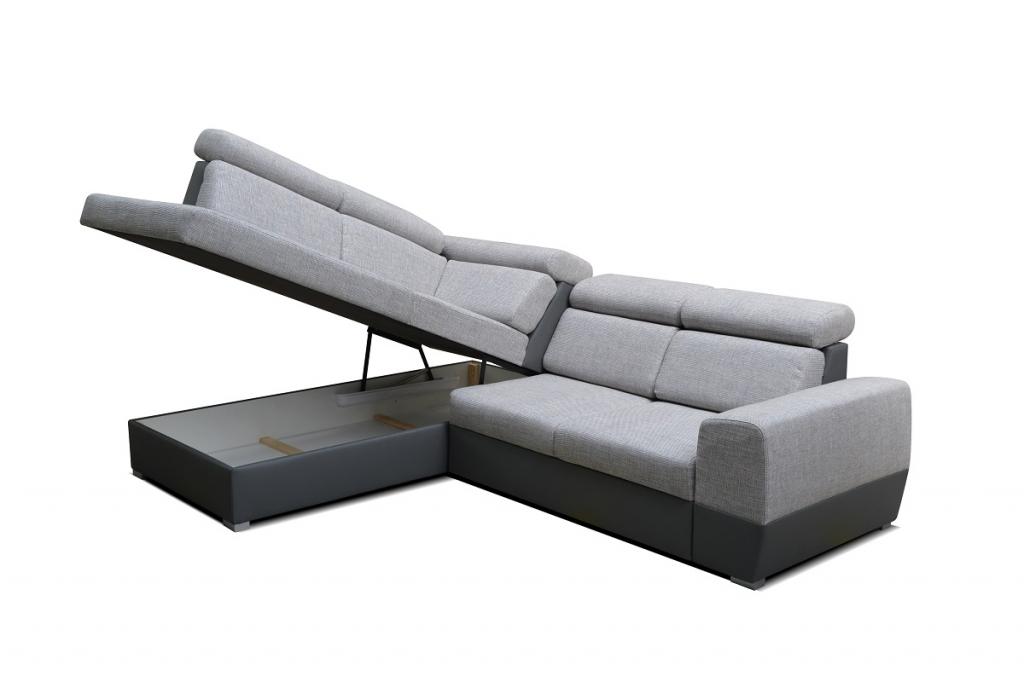 Rohová sedačka Matrix - detail úložného prostoru
