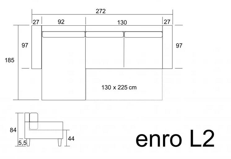 Rozmery rohovej sedačky Enro