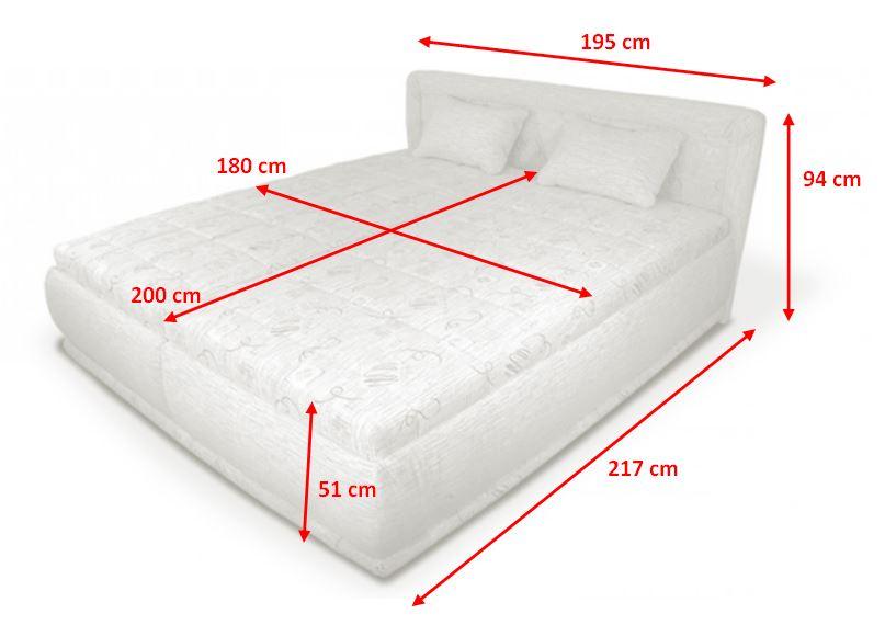Rozmery manželskej postele Harmonie