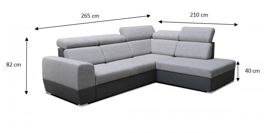 Rozměry sedačky Matrix
