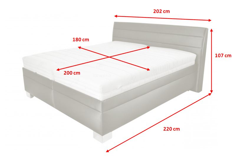 Rozmery polohovateľnej postele Vernon